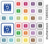 undo movie changes color flat... | Shutterstock .eps vector #718003231