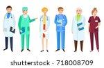vector flat cartoon adult male  ... | Shutterstock .eps vector #718008709