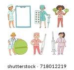 vector flat cartoon adult male  ... | Shutterstock .eps vector #718012219