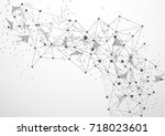 abstract polygonal space... | Shutterstock .eps vector #718023601