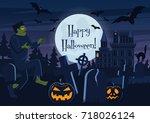 vector illustration of happy... | Shutterstock .eps vector #718026124