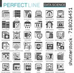 data science technology classic ... | Shutterstock .eps vector #718026451