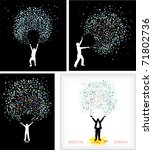 magical energy young man. set... | Shutterstock .eps vector #71802736