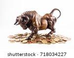 financial investment in bull... | Shutterstock . vector #718034227