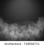vector realistic smoke on the... | Shutterstock .eps vector #718036711