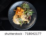 a beautiful dish in the... | Shutterstock . vector #718042177