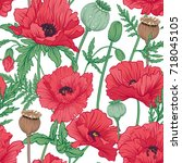 seamless pattern  background...   Shutterstock .eps vector #718045105