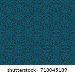 seamless modern vector...   Shutterstock .eps vector #718045189