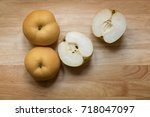 pyrus pyrifolia is a species of ... | Shutterstock . vector #718047097
