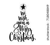 we wish you a merry christmas... | Shutterstock .eps vector #718048849