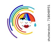 rainbow icon   Shutterstock .eps vector #718048951