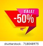 limited offer mega sale banner. ... | Shutterstock .eps vector #718048975