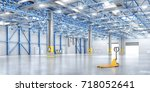 empty warehouse. 3d illustration | Shutterstock . vector #718052641