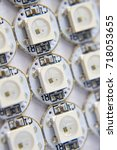close look to ws2812b led diodes | Shutterstock . vector #718053655