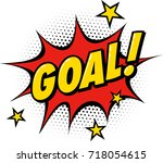 goal symbol in comic book style. | Shutterstock .eps vector #718054615