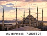 Sunset Over The Blue Mosque  ...