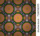 colour spring theme seamless...   Shutterstock .eps vector #718058395