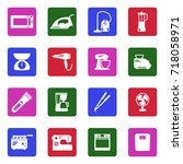 home appliances icons. white...