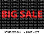black friday sale background ... | Shutterstock .eps vector #718059295