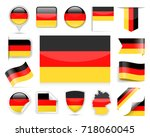 germany flag set   vector... | Shutterstock .eps vector #718060045