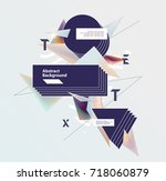 abstract  template for poster | Shutterstock .eps vector #718060879