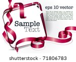 card note with red swirly... | Shutterstock .eps vector #71806783