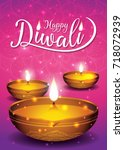 diwali festival flyer and... | Shutterstock .eps vector #718072939