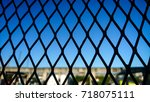 cage and freedom  | Shutterstock . vector #718075111