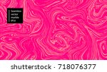seamless abstract marble... | Shutterstock .eps vector #718076377