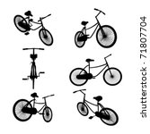 set of bicycle silhouette | Shutterstock .eps vector #71807704