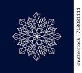 snowflake   geometric design... | Shutterstock .eps vector #718081111