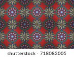 small colorful flowers. spring...   Shutterstock . vector #718082005