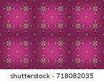 raster illustration of magenta  ...   Shutterstock . vector #718082035