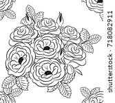 seamless flower pattern   Shutterstock .eps vector #718082911