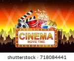 movie time. | Shutterstock .eps vector #718084441