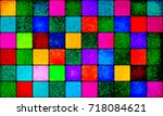 composition of multicolored... | Shutterstock .eps vector #718084621