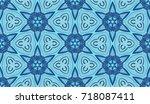 seamless pattern. beautiful... | Shutterstock .eps vector #718087411