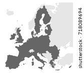 european union territory grey... | Shutterstock .eps vector #718089694