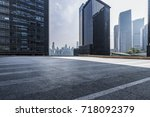 empty floor with modern... | Shutterstock . vector #718092379