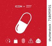pill icon | Shutterstock .eps vector #718095931