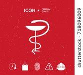pharmacy symbol medical snake... | Shutterstock .eps vector #718096009