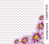 floral greeting card with...   Shutterstock .eps vector #718097929