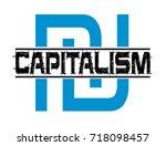 capitalism vector stamp | Shutterstock .eps vector #718098457
