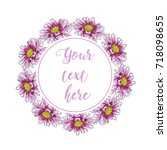 floral greeting card with...   Shutterstock .eps vector #718098655