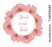 floral greeting card with...   Shutterstock .eps vector #718098685