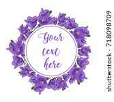 floral greeting card with...   Shutterstock .eps vector #718098709