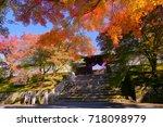 manshuin temple emperor's gate... | Shutterstock . vector #718098979