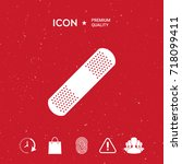 medical  plaster  adhesive... | Shutterstock .eps vector #718099411