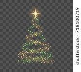 Christmas Tree On Transparent...