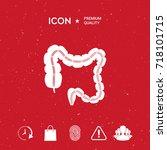 human organ   the large... | Shutterstock .eps vector #718101715